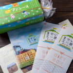 マドレーヌの包装紙のお色直しと、新たにパンフレット&ギフト用シールを制作しました!